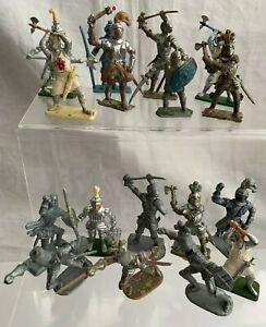 Vintage  Plastic Painted/Unpainted  Toy Knights