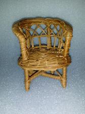 "Miniature Wicker 5"" Doll Chair"