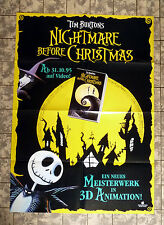 Nightmare before Christmas * VIDEO-POSTER A1 - Ger 1-Sheet ´95 TIM BURTON Teaser