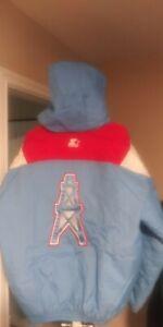 Vintage Houston Oilers Throwback Pullover Starter Jacket XL Mint! Nfl