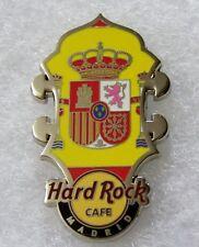 HARD ROCK CAFE MADRID HEADSTOCK FLAG SERIES PIN # 80920