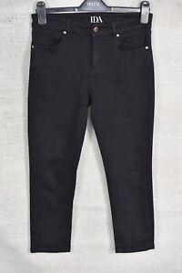 DONNA IDA Kitty Kat The High Top Cropped SKINNY CROP black denim jeans 27 L23