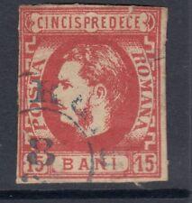 ROMANIA : 1869 Prince Carol 15b red SG 76 used