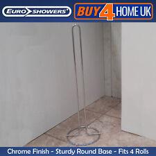 Euroshowers Satina Chrome Spare Toilet Paper Holder Storage - Fits 4 Rolls