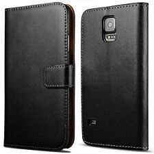Samsung Galaxy S5 NEO MINI Note 3 Phone Genuine Leather Wallet Case Cover New
