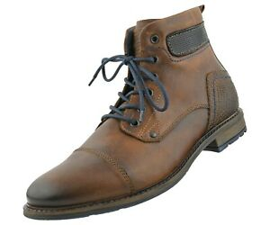 Modern Cap Toe Lace-Up Leather Boots, Casual Designer Boots for Men- Asher Green