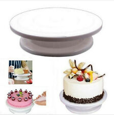 "11"" Rotating Revolving Cake Plate Decorating Turntable Kitchen Display Stand"