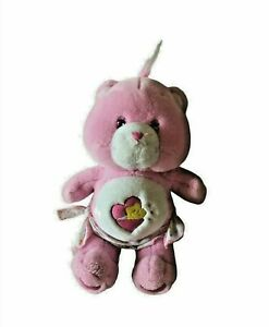 """12"""" 2002 Plush Pink Baby Hugs Heart Star Nappy Care Bear Girl Gift Soft 1980 Toy"""