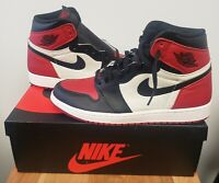Nike Air Jordan 1 Retro High OG 2018 Bred Toe Men's Size 10.5 555088-610 Red DS