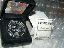 1998 Enviromint Broncos AFC Champions .999 Fine Silver Colorized Coin 1 of 500