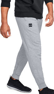 Under Armour Rival Mens Fleece Joggers Grey Sweatpants Casual Gym Workout Pants