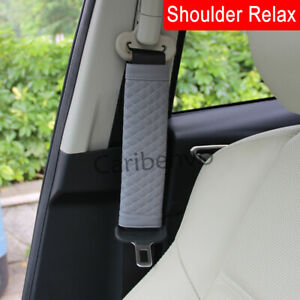 2Pcs/Combo PU Leather Car Truck Seat Safe Belt Shoulder Relax Pads