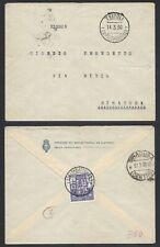STORIA POSTALE Colonie LIBIA 1930 Lettera da Tripoli a Siracusa (GB1)