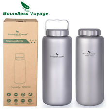 1050ml Titanium Water Bottle Leakproof Cycling Camping Sport Drinking Canteen