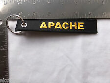 U.S. ARMY APACHE EMBROIDERED MILITARY KEY FOB (CHAIN) FB2