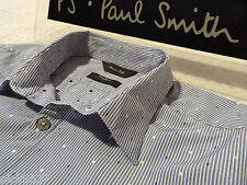 "PAUL SMITH Mens Shirt 🌍 Size 16"" (CHEST 40"") 🌎 RRP £95+ 🌎 STRIPES & DIAMONDS"