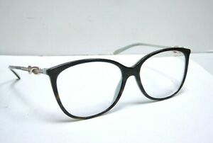 TIFFANY & CO EYEGLASS TF 2143-B HAVANA BLUE 8134 53mm RX AUTHENTIC Used