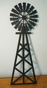 """26"""" Country Primitive Amish Style Windmill Metal Farm House Home Decor Wall Sign"""