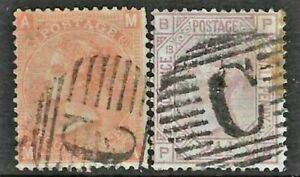 GB Used Abroad in CONSTANTINOPLE British Levant C  2 stamps