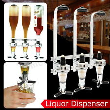 3 Bottles Wine Liquor Dispenser Drink Cocktail Shot Bar Butler Wall Mounted