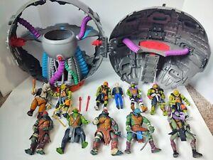 Ninja Turtles Out Of The Shadows Movie Technodrome Playset Lot TMNT casey raph