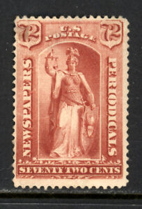 SCOTT PR68 1879 72 CENT NEWSPAPER ISSUE MH OG F CAT $700!