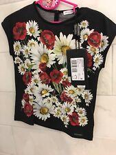 NWT D & G Dolce & Gabbana Top Floral Shirt 5 Girls