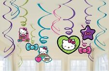 Hello Kitty Hanging Swirls 12 Pieces Birthday Party Decorations