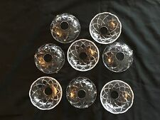 *8  LEAD CRYSTAL BOBECHES (GOLD PINS)