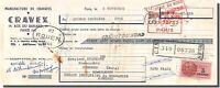 Letra de Cambio - Cravex Fábrica de Corbata a París 1951