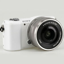 New Sony Alpha Mirrorless A5000 with 16-50mm Lens Digital Camera (White)