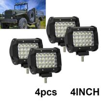 4x 4in Round LED Work Lights Pod Flood Spot Combo fit 4x4 Offroard Driving Light