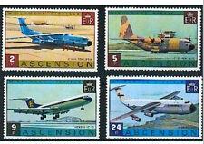 Ascension 1975 Aircraft set, Lockheeds & Vickers VC10 MNH/ unmounted mint