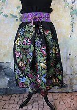 Traditional Hand Woven Skirt Mayan Zinacantan Chiapas Mexico Hippie Boho Cowgirl