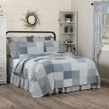 COUNTRY PRIMITIVE FARMHOUSE SAWYER MILL BLUE QUILT COLLECTION VHC BRANDS