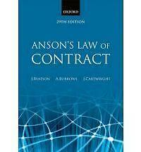 Anson's Law of Contract, 9780199282470