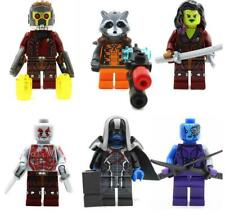 6x Guardians of The Galaxy Minifigures Mini Figures Custom Fit Lego Building Toy