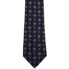 "Bruno Gabrieli Men's Silk Novelty Neck Tie Black Blue Gold Classic 3 3/4"" x 58"""