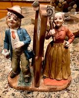 Vintage 1982 Arnart Art Sculptures Elderly Couple