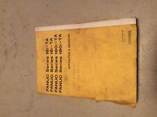 FANUC MANUAL B-63004EN/01, series 16i-TA, 18i-TA, 160i-TA, 180i-TA, Used