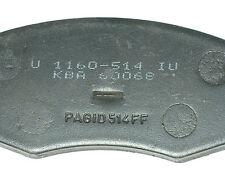 Original Pagid Bremsbeläge 3x Stück, U 1160-514 IU, KBA 60068, PAGID514FF