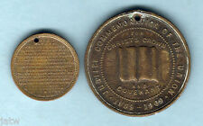 Medallions. 1887 Victoria's Jubilee/Lords Prayer & 1909 Presbyterian Church