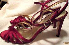 """EUC *ANTONIO MELANI*  Bordeaux Red Leather Strappy Stiletto Sandal,4"""" Heel,10M"""