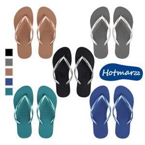 Girls Flip-Flops Ladies Sandal Women Slipper Casual Beach Nonskid Solid Colour ^