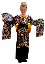 NEW GEISHA GIRL CHILDS FANCY DRESS COSTUME ORIENTAL, AGES 4-6  SMALL 110 - 122CM