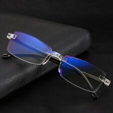 Fashionable Ultralight Rimless Reading Glasses Women Men Clear Lens Anti-Blu-Ray