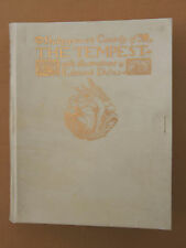 Shakespeare's Tempest Illustrated Edmund Dulac Hodder 1908 Full Vellum Signed