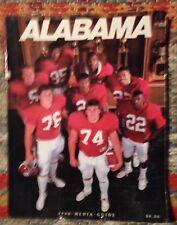 University of Alabama 1988 Football Media Guide~PB