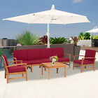 7pc Outdoor Sofa Set Sectional Cushioned Couch Garden Patio Furniture Yard Deck