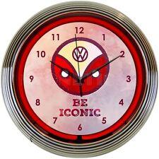 Volkswagen Neon Clock - BE Iconic - VW - Beetle - Split Window Bus - Vintage
